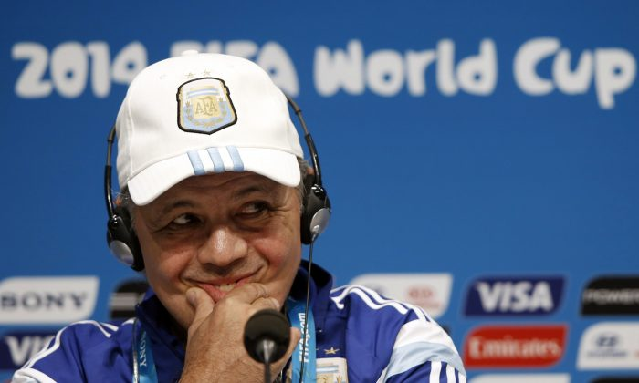 Argentina's coach Alejandro Sabella gives a press conference at the Maracana Stadium in Rio de Janeiro on July 12, 2014, on the eve of the 2014 FIFA World Cup final football match Germany vs Argentina. (ADRIAN DENNIS/AFP/Getty Images)