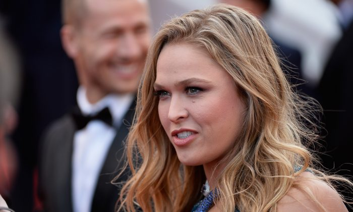 Ronda Rousey attends 'The Expendables 3' premiere during the 67th Annual Cannes Film Festival on May 18, 2014 in Cannes, France. (Ian Gavan/Getty Images)