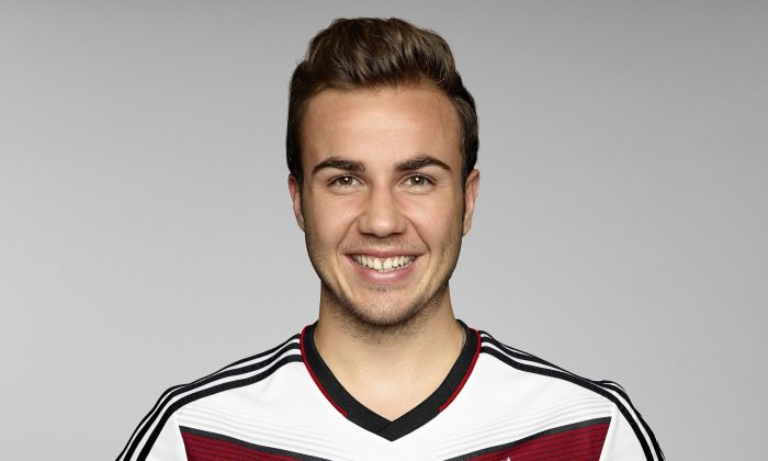 Mario Goetze of team Germany poses for a picture on May 24, 2014 in St. Martin in Passeier, Italy. (Photo by Handout/DFB via Bongarts/Getty Images)