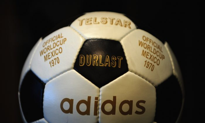The Adidas Telstar football featured innovative engineering, and was a nod to the advancements during the space race of the 60's and 70's. (Laurence Griffiths/Getty Images)