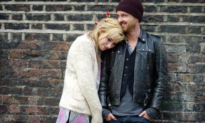 "Imogen Poots and Aaron Paul in ""A Long Way Down."" (Magnolia Pictures)"