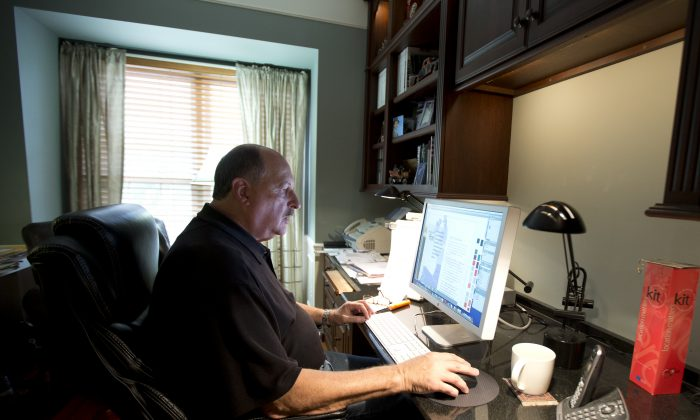 Graphic designer Tom Sadowski, 65, works from home in Sterling, Va. Baby boomers are often an overlooked segment in marketing efforts. (AP Photo/Manuel Balce Ceneta)