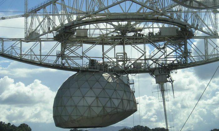 Arecibo Observatory in Puetro Rico. (Alessandro Cai via Wikimedia Commons)