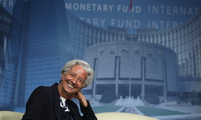 IMF Managing Director Christine Lagarde listens during a discussion at the International Monetary Fund July 2, 2014 in Washington, DC.(Alex Wong/Getty Images)