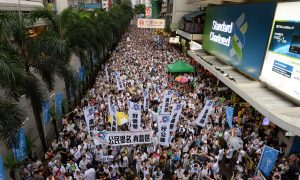Hundreds of Thousands March for Democracy in Hong Kong