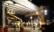 Brooklyn Bridge Facade Collapses After Heavy Rain