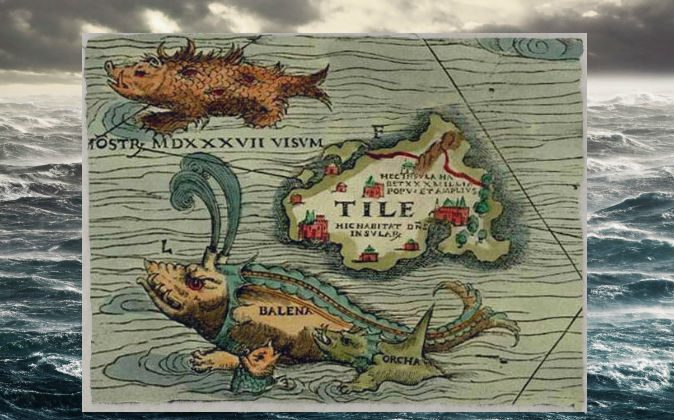 A portion of the Carta Marina by Olaus Magnus, 1539. (Wikimedia Commons)