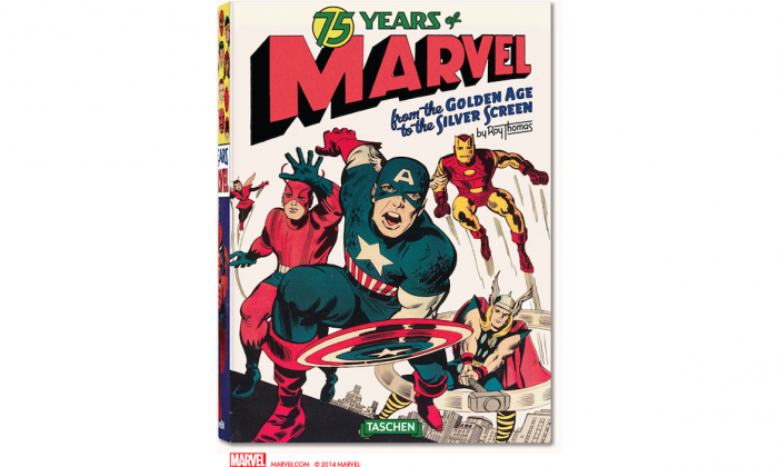 """Marvel will release a 720-page magnum opus for its 75th anniversary in the fall of 2014 named """"75 YEARS OF MARVEL: FROM THE GOLDEN AGE TO THE SILVER SCREEN."""" (Marvel Entertainment)"""