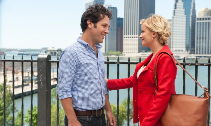 """Paul Rudd and Amy Poehler in """"They Came Together,"""" a rom-com that skewers rom-coms. (Lionsgate)"""