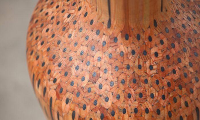 """Dragonfruit,"" a vase made of pencils. (Courtesy of Tuomas Markunpoika)"