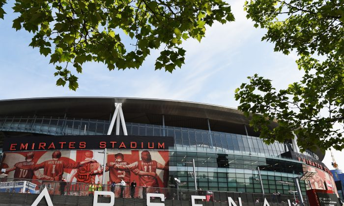 General view outside the ground before the Barclays Premier League match between Arsenal and West Bromwich Albion at the Emirates Stadium on May 4, 2014 in London, England. (Photo by Shaun Botterill/Getty Images)