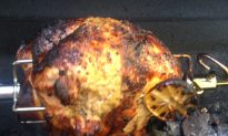Spit Roasted Turkey on the Grill