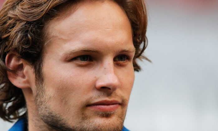 Daley Blind of Ajax looks on after the 19th Johan Cruijff Shield match between Ajax Amsterdam and PEC Zwolle at the Amsterdam ArenA on August 3, 2014 in Amsterdam, Netherlands. (Photo by Dean Mouhtaropoulos/Getty Images)