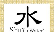 Chinese Character for Water: Shuǐ (水)