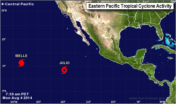 (Screen capture from www.nhc.nooa.gov)