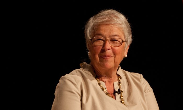 Chancellor of the New York City Department of Education Carmen Fariña speaks at the Preschool Nation conference in downtown Manhattan, New York, on Tuesday, Aug 5, 2014. (Petr Svab/Epoch Times)