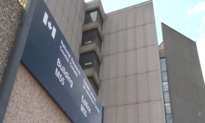 The National Research Council (NRC) includes dozens of buildings in Ottawa, like this one, seen July, 2014. The Chinese regime has placed two Canadians under investigation for espionage exactly one week after Canada named the Chinese state-sponsored hackers responsible for cyber attacks against the NRC. (Matthew Little/Epoch Times)