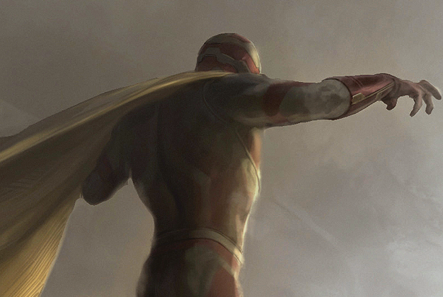The Vision concept art, part of a package released by Marvel for Comic-Con.