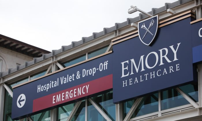 Emory University Hospital is seen on August 1, 2014 in Atlanta, Georgia. Officials with the hospital confirmed that Emory University Hospital will be receiving and treating two American patients diagnosed with Ebola virus. (Photo by Jessica McGowan/Getty Images)