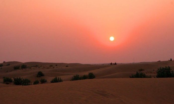 Sunset in Thar Desert in Rajasthan, India (Vagabond Journey Travel)