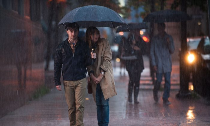 """Wallace (Daniel Radcliffe) and Chantry (Zoe Kazan) are stuck somewhere between friends and lovers in """"What If."""" (Caitlin Cronenberg/CBS Films)"""