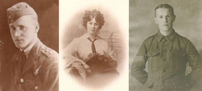 Grandfather Edward, grandmother Maud and great uncle Jimmy. (Richard Grayson, Author provided)