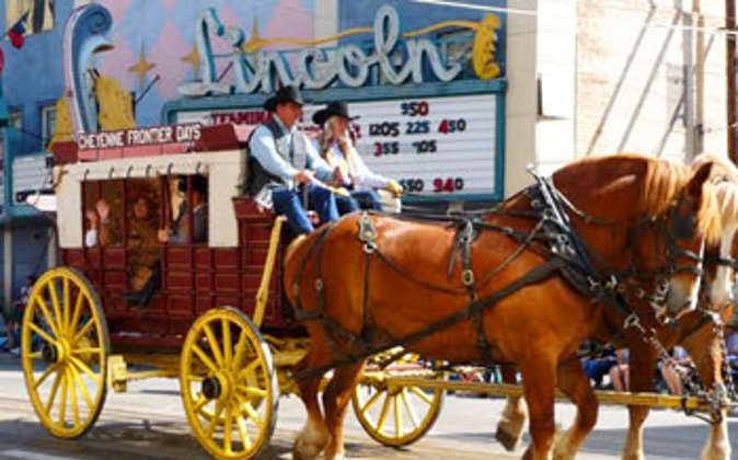 Stagecoach in Cheyenne Frontier Days parade. Photo by Cindy Bigras. (Go Nomad)