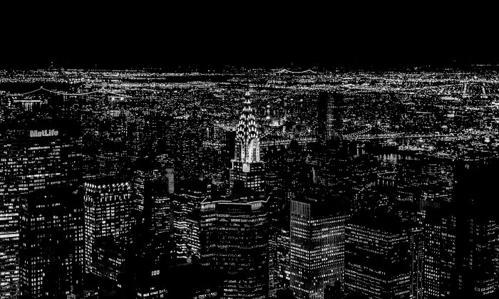 """New Home: Photographed from the top of the Empire State Building Feb. 8, 2013, during Kude and Ili Aris's first visit to New York for their honeymoon in 2013—""""It is then when we realized and decided that we will make New York our new home."""" (Kudegraphy)"""