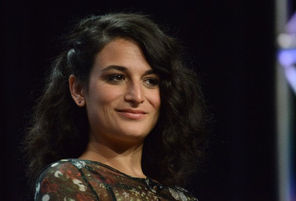 """Jenny Slate appears on stage during the """"Married"""" panel at the The FX 2014 Summer TCA held at the Beverly Hilton Hotel on Monday, July 21, 2014, in Beverly Hills, Calif. (Photo by Richard Shotwell/Invision/AP)"""
