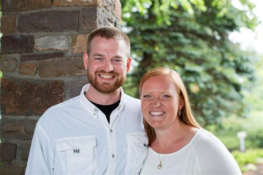 Dr. Kent Brantly and his wife, Amber. Brantly became the first person infected with Ebola to be brought to the United States from Africa. (AP Photo/Samaritan's Purse)