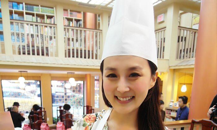 "CiCi Li, anchorwoman for NTD's ""Food Paradise"" program (Courtesy of CiCi's Food Paradise)"