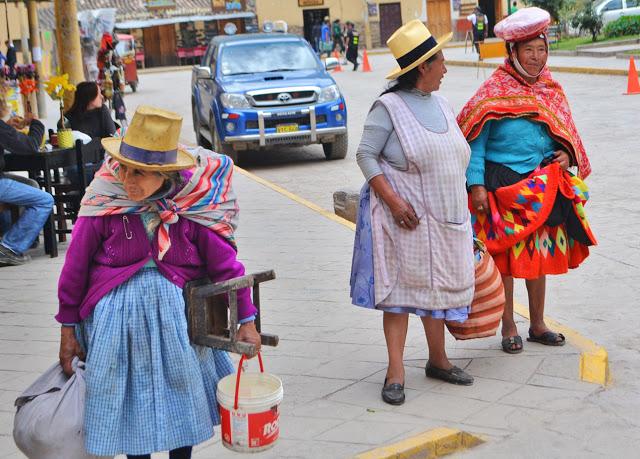 Women wearing traditional clothes, Ollantaytambo, Peru (Adventurous Travels)