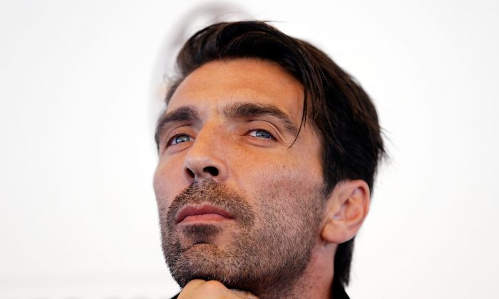 Gianluigi Buffon looks on during the Juventus media conference at Sydney Opera House on August 8, 2014 in Sydney, Australia. (Photo by Mark Metcalfe/Getty Images)