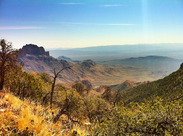 A look down on the Chihuahuan Desert from the Chisos Mountains (Traveling Ted)