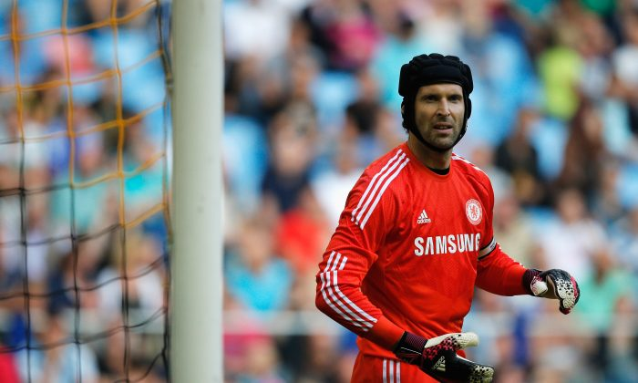 Goalkeeper, Petr Cech of Chelsea looks on during the pre season friendly match between Vitesse Arnhem and Chelsea at the Gelredome Stadium on July 30, 2014 in Arnhem, Netherlands. (Photo by Dean Mouhtaropoulos/Getty Images)