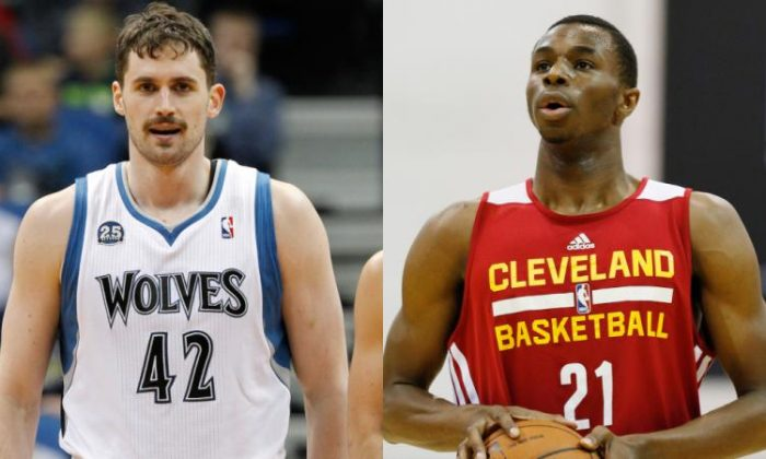 Kevin Love and Andrew Wiggins