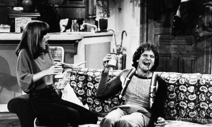 Actor Robin Williams and Actress Pam Dawber on the set of ABCs Mork and Mindy, Jan., 1979. (AP Photo/ABC)
