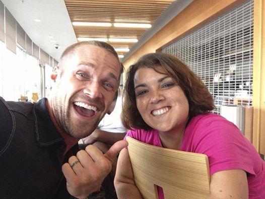 Sara Murphy with Chris Powell. (ABC)