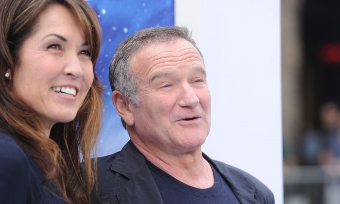 Susan Schneider and actor Robin Williams attend the Premiere of Warner Bros. Pictures' 'Happy Feet Two' at Grauman's Chinese Theatre on November 13, 2011 in Hollywood, California. (Jason Merritt/Getty Images)