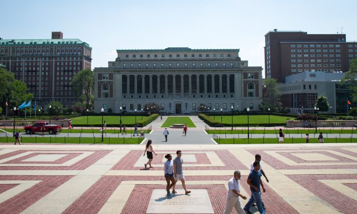 The campus of Columbia University with the Butler Library in the foreground, in Manhattan, in 2012. (Benjamin Chasteen/Epoch Times)