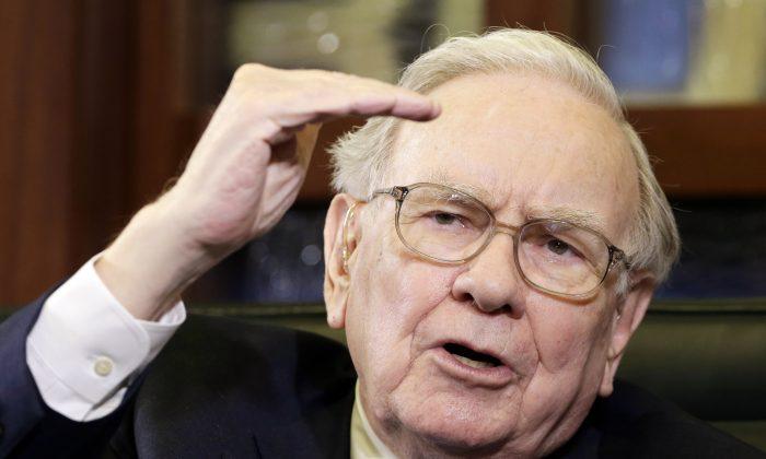 Berkshire Hathaway Chairman and CEO Warren Buffett during an interview in Omaha, Neb., on May 5, 2014. (AP Photo/Nati Harnik)