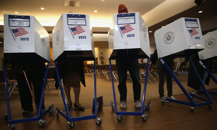 A polling station in Brooklyn, N.Y., on Nov. 5, 2013. (John Moore/Getty Images)