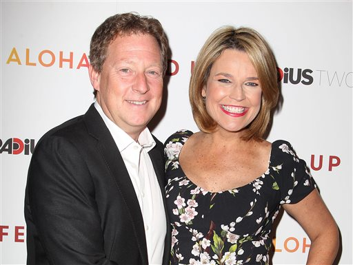 "Michael Feldman (L) and Savannah Guthrie at the premiere ""Fed Up"", at The Museum of Modern Art in New York on  May 6, 2014.  (AP Photo/Starpix, Amanda Schwab)"