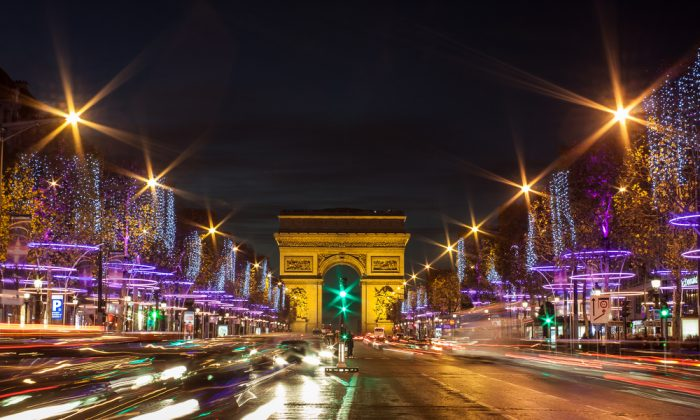 The Champs-Élysées in Paris