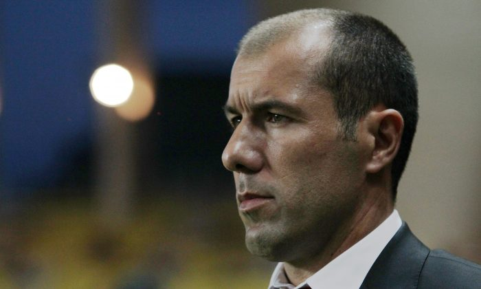 Monaco's Portuguese coach Leonardo Jardim looks on prior to the French L1 football match between Monaco (ASM) and Lorient (FCL) on August 10, 2014, at the Louis II Stadium in Monaco. (JEAN CHRISTOPHE MAGNENET/AFP/Getty Images)