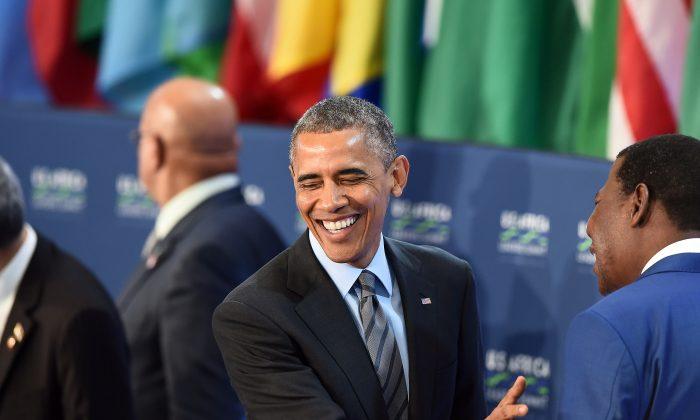 US President Barack Obama attends the US-Africa Leaders Summit in Washington, DC, on Aug. 6, 2014. (Jewel Samad/AFP/Getty Images)