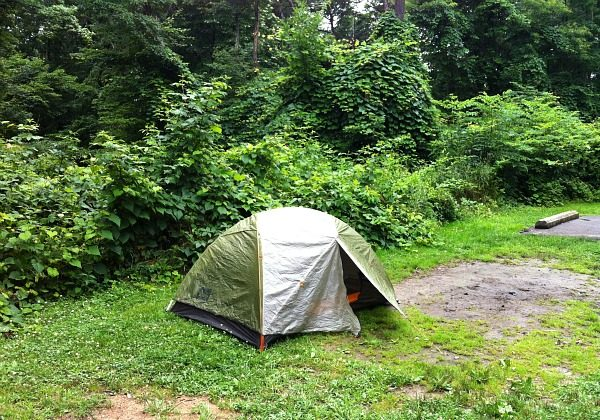 Worst campsite ever in Hocking Hills Ohio (Traveling Ted)