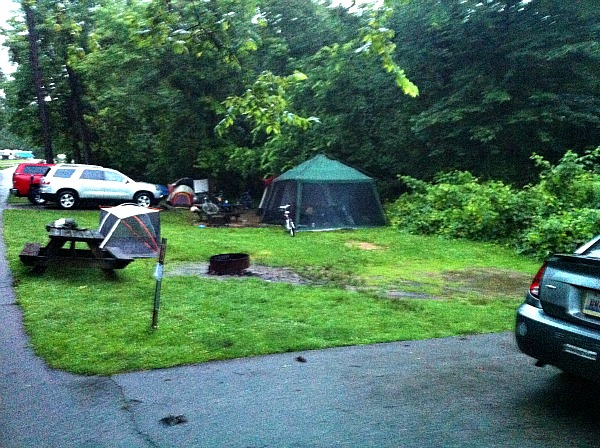 The worst campsite ever in Hocking Hills. (Trvaeling Ted)