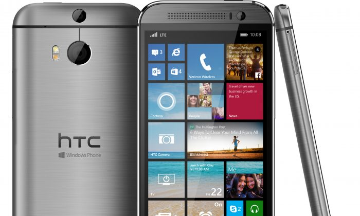 The HTC One M8 Windows phone: HTC says it developed the new model at the request of Microsoft, which has been trying to boost its Windows Phone system. The company will continue to make an Android version of the One, as well as other Android phones. (AP Photo/HTC)
