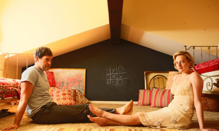 "Mark Duplass and Elisabeth Moss in ""The One I Love."" (RADiUS-TWC)"